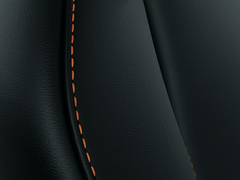 Interior Mobil Mitsubishi Eclipse Cross Leather With Orange Stitches